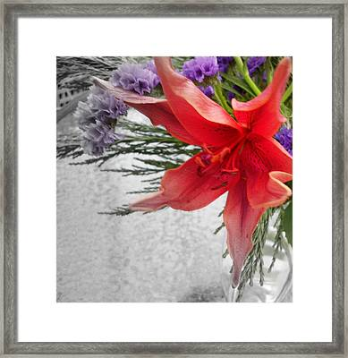 Flame Framed Print by Sian Lindemann