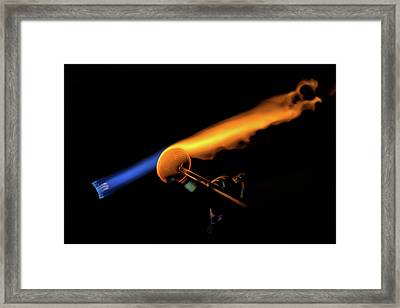 Flame Work Framed Print by Digiblocks Photography
