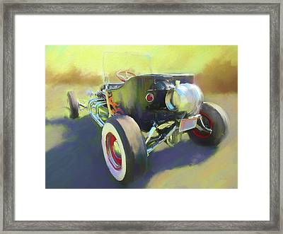 Flamed Bucket Framed Print