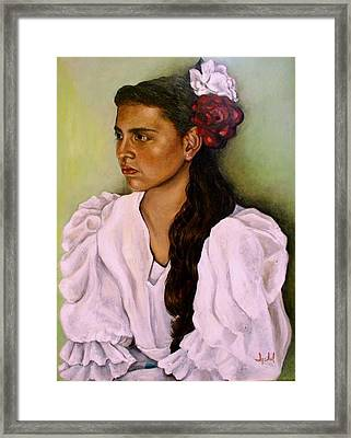 Flamenca Framed Print by Ixchel Amor