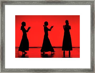 Flamenco Red An Black Spanish Passion For Dance And Rithm Framed Print