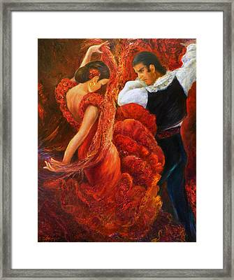 Flamenco Couple 2 Framed Print