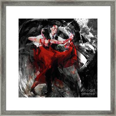 Flamenco Couple Dance  Framed Print