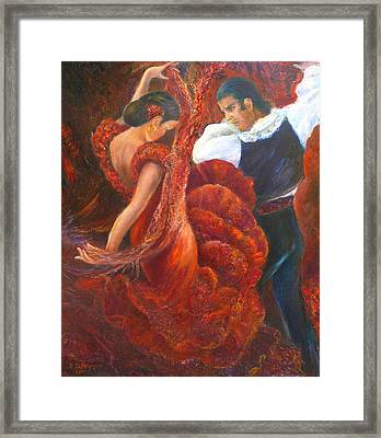 Flamenco Couple Fa Framed Print