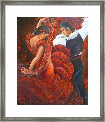 Flamenco Couple Framed Print