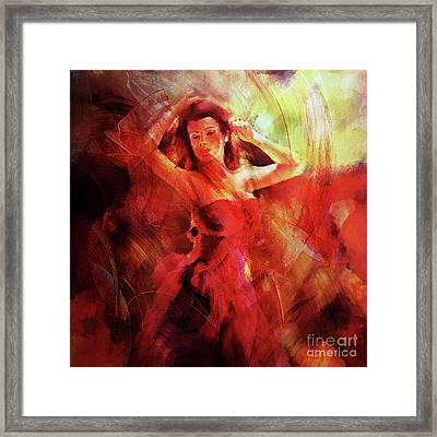 Flamenco Dance 03 Framed Print