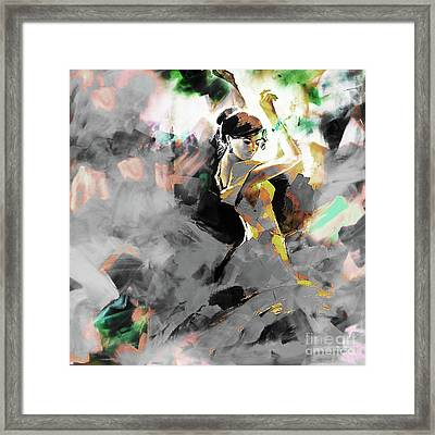 Framed Print featuring the painting Flamenco Dance Art 7u7 by Gull G