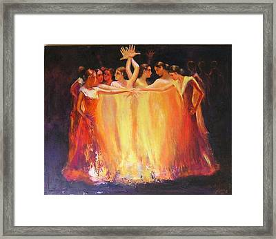 Flamenco Dance Of Light Framed Print