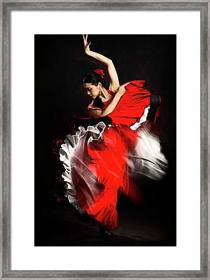 Flamenco Dancer - 01 Framed Print