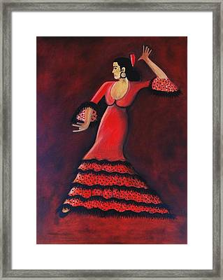 Flamenco Dancer Framed Print by Janine Antulov