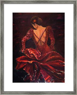 Flamenco Dancer Ma Framed Print