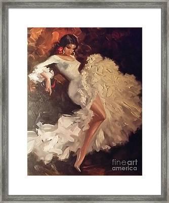 Flamenco Dancer Framed Print