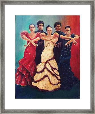 Flamenco Dancers 5 Framed Print