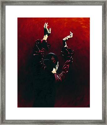 Flamenco Fire Framed Print by Richard Young
