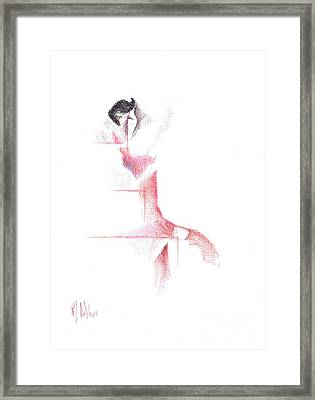 Framed Print featuring the painting Flamenco Geometric Cc101 by Kip DeVore