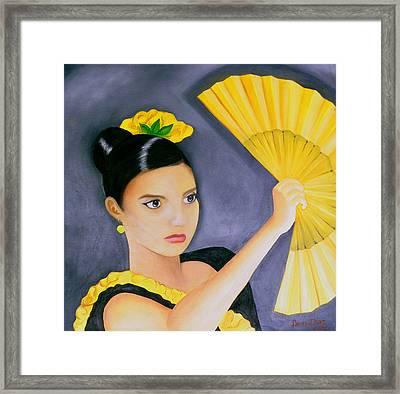 Flamenco Girl Framed Print