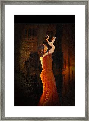 Flamenco In The Streets Framed Print by tim Kahane