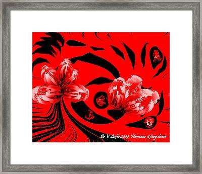 Flamenco-it Fiery Dance Framed Print by Dr Loifer Vladimir