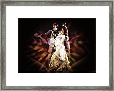 Flamenco Performance Framed Print