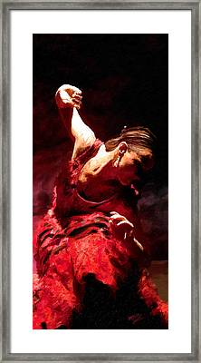 Framed Print featuring the painting Flamenco Poise by James Shepherd