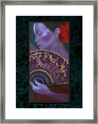 Framed Print featuring the painting Flamenco  by Ragen Mendenhall