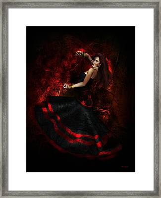 Flamenco Framed Print by Shanina Conway