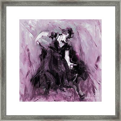 Framed Print featuring the painting Flamenco Spanish Dance Art by Gull G
