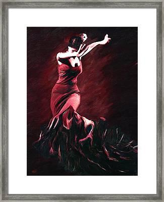 Flamenco Swirl Framed Print