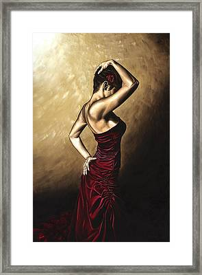 Flamenco Woman Framed Print by Richard Young