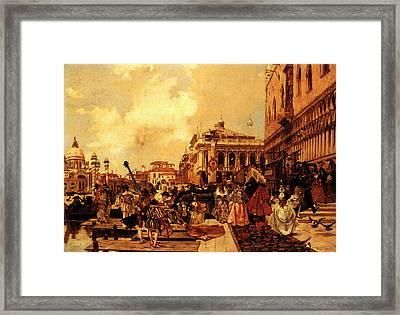 Flameng Francois Le Carneval A Venise Framed Print