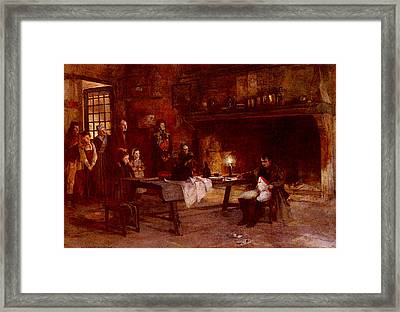 Flameng Francois Napoleon After The Battle Of Waterloo Framed Print