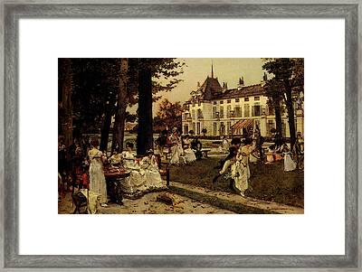 Flameng Francois Reception At Malmaison In  Framed Print