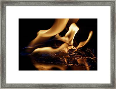 Framed Print featuring the photograph Flames And Ice by Rico Besserdich