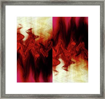 Framed Print featuring the digital art Flames by Cherie Duran