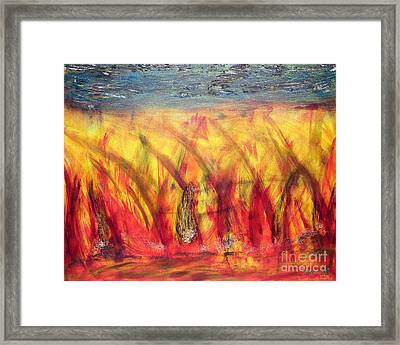 Framed Print featuring the painting Flames Inferno by Sascha Meyer