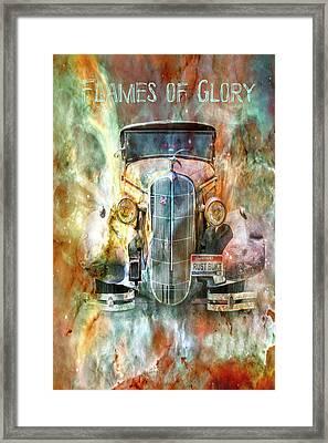 Flames Of Glory Framed Print