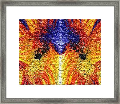 Flames Of Wrath Framed Print by Charmaine Zoe