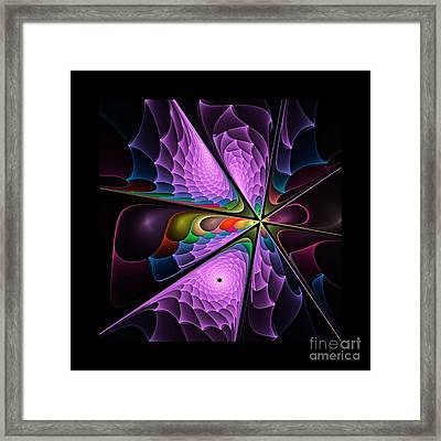 Flames On Black -m- Framed Print