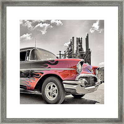 Flamin' 57 Framed Print by DJ Florek