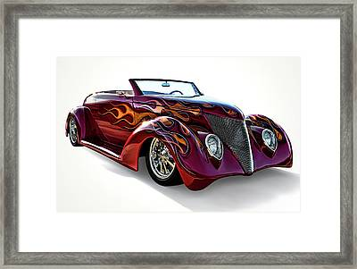 Flamin' Red Roadster Framed Print