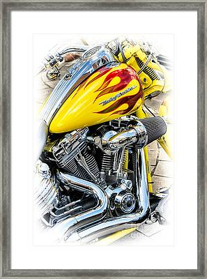 Flamin Yellow Chrome Framed Print by Tim Gainey