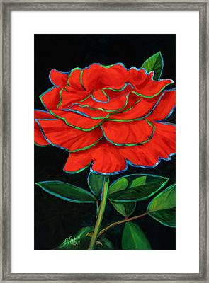 Flaminco Rose Framed Print by Billie Colson