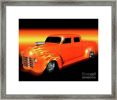 Flaming 48 Framed Print by Peter Piatt