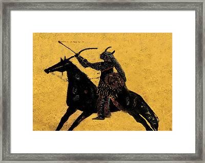 Flaming Arrow Framed Print