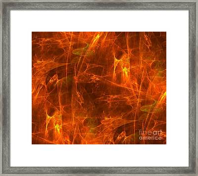Flaming Background Framed Print by Yali Shi