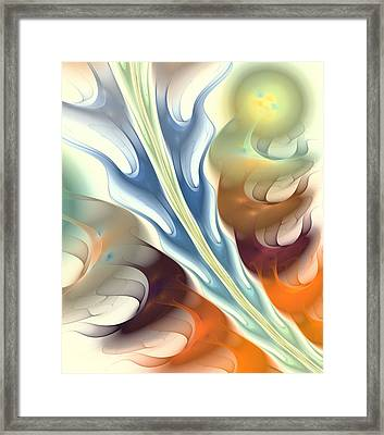 Flaming Breath Framed Print