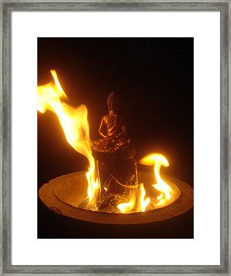 Flaming Buddha Framed Print by Steve Griffith