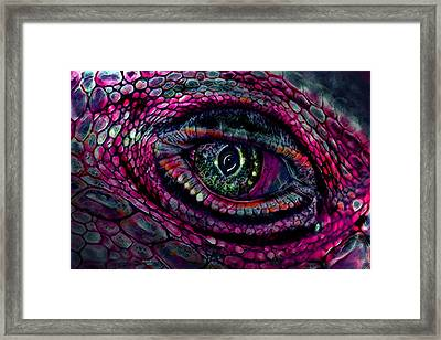 Flaming Dragons Eye Framed Print