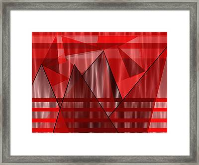 Flaming Elevation Framed Print by Kathleen Sartoris