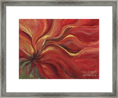 Flaming Flower Framed Print by Nadine Rippelmeyer